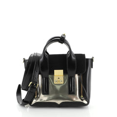 3.1 Phillip Lim Pashli Satchel Leather and Calf Hair Mini