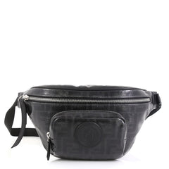 Fendi Front Pocket Waist Bag Zucca Coated Canvas
