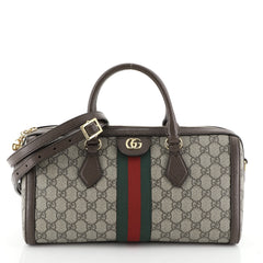 Gucci Ophidia Boston Bag GG Coated Canvas Medium