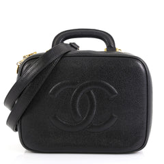 Chanel Vintage Timeless CC Vanity case Caviar Small