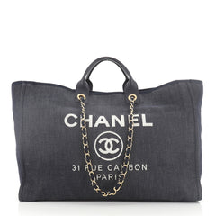 Chanel Deauville Tote Denim XL