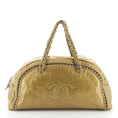 Chanel Luxe Ligne Bowler Bag Patent Large