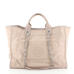 Chanel Deauville Tote Glazed Calfskin Large
