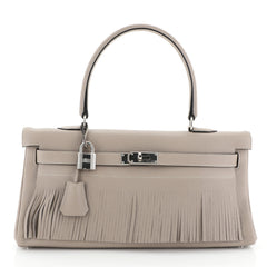Hermes Kelly Fringe Shoulder Bag Clemence 42