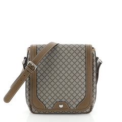 Gucci Snap Flap Messenger Bag Diamante Coated Canvas Medium