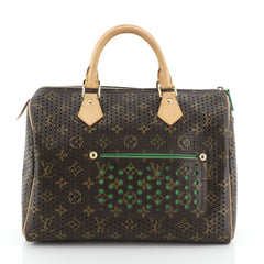 Louis Vuitton Speedy Handbag Perforated Monogram Canvas 30