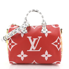 Louis Vuitton Speedy Bandouliere Bag Limited Edition Colored Monogram Giant 30