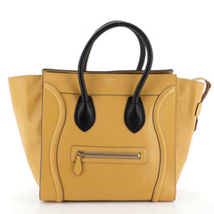 Celine Luggage Handbag Smooth Leather Mini