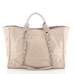 Deauville Tote Glazed Calfskin Large
