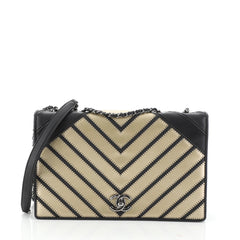 Chanel Chevron Couture Flap Bag Stitched Chevron Lambskin Medium