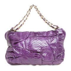 Zagliani Shoulder Bag with Chain Strap Python