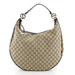 Gucci Twins Hobo GG Canvas Large