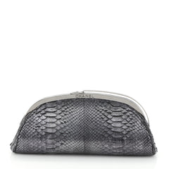 Chanel Frame Clutch Python Small