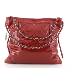 Chanel 31 Drawstring Tote Quilted Patent Large
