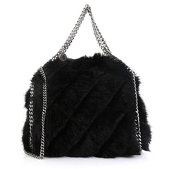 Stella McCartney Falabella Fold Over Crossbody Bag Faux Fur Mini