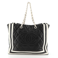 Chanel CC Shopping Tote Quilted Lambskin XL