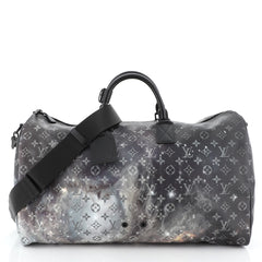 Louis Vuitton Keepall Bandouliere Bag Limited Edition Monogram Galaxy Canvas 50