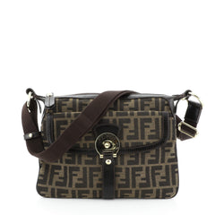 Fendi Chef Zip Crossbody Bag Zucca Canvas