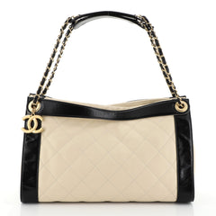 Chanel In the Mix Charm Tote Quilted Leather Medium