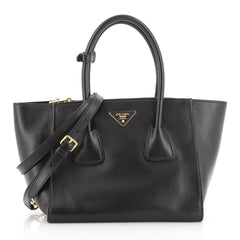 Prada Twin Pocket Tote City Calfskin Small