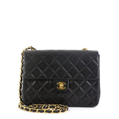 Chanel Vintage Square Classic Flap Bag Quilted Lambskin Small