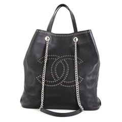 Chanel Coco Eyelets Shopping Tote Calfskin Large