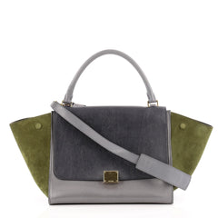 Celine Trapeze Tricolor Leather Medium