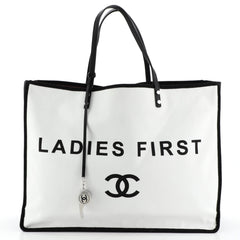 Chanel Let's Demonstrate Tote Canvas Large