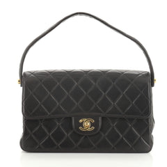 Chanel Vintage Double Sided Flap Bag Quilted Lambskin Medium
