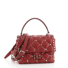 Valentino Candystud Top Handle Bag Leather Medium