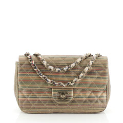 Chanel Classic Single Flap Bag Quilted Multicolor Metallic Sheepskin Small