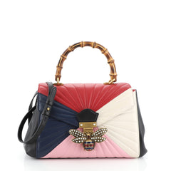 Gucci Queen Margaret Top Handle Bag Multicolor Quilted Leather Medium