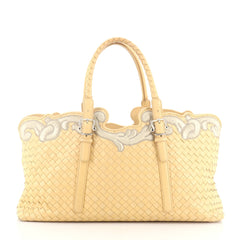 Bottega Veneta Belted Cabat Tote Embroidered Intrecciato Nappa