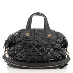 Givenchy Nightingale Satchel Quilted Patent Medium