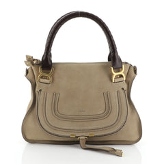 Chloe Marcie Satchel Nubuck Medium