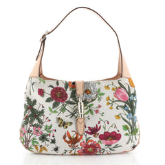 Gucci Jackie O Bag Flora Canvas Small