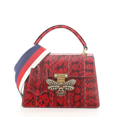 Gucci Queen Margaret Top Handle Bag Snakeskin Small