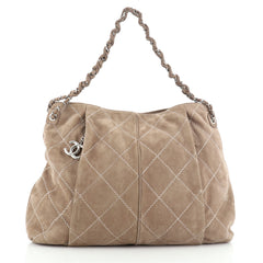 Chanel Ultimate Stitch Hobo Quilted Nubuck Large
