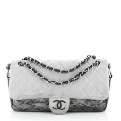 Chanel Melrose Degrade Flap Bag Quilted Patent Vinyl Medium