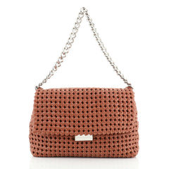 Stella McCartney Bex Shoulder Bag Woven Faux Leather Small