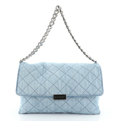 Stella McCartney Soft Beckett Shoulder Bag Quilted Denim Large