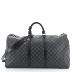 Louis Vuitton Keepall Bandouliere Bag Damier Graphite 55