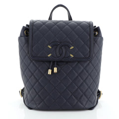 Filigree Backpack Quilted Caviar Large