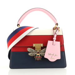 Gucci Queen Margaret Top Handle Bag Colorblock Leather Small