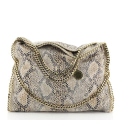 Stella McCartney Falabella Fold Over Bag Faux Python