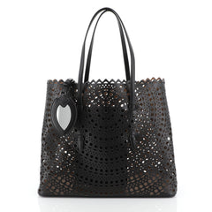 Alaia Open Tote Laser Cut Leather Large