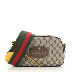Gucci Animalier Camera Messenger Bag GG Coated Canvas