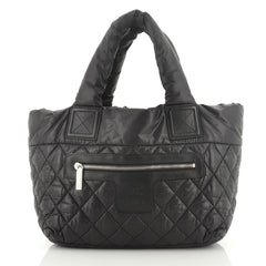 Chanel Coco Cocoon Reversible Tote Quilted Nylon Small