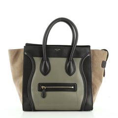 Celine Tricolor Luggage Bag Leather Mini