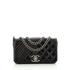 Coco Boy Flap Bag Quilted Aged Calfskin Small